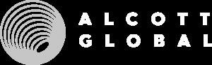 Alcott Globlal Logo Black BG