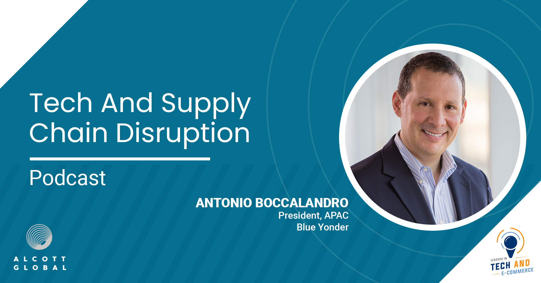Tech and Supply Chain Disruption with Antonio Boccalandro President, APAC at Blue Yonder Featured Image